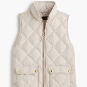 J Crew Excursion Quilted Down Vest Size XS